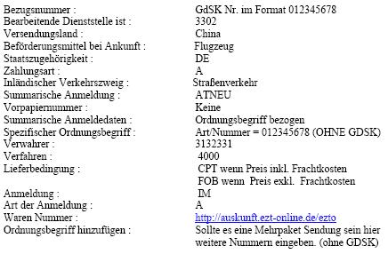 Angagen der GDSK im Merkblatt